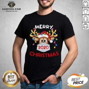 Hot Reindeer In Mask Merry Christmas Shirt - Design By Earstees.com