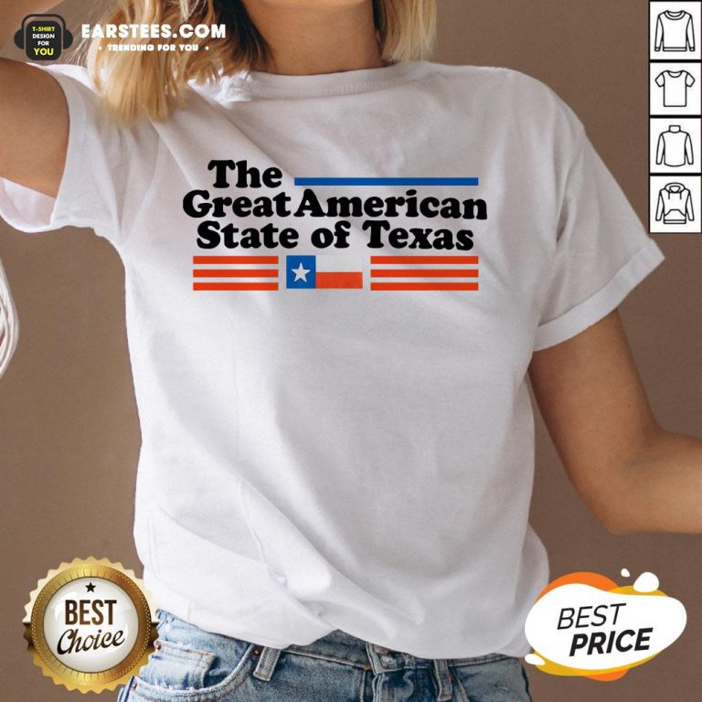 Hot The Great American State Of Texas V-neck - Design By Earstees.com