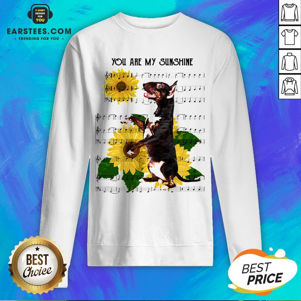Nice Bull Terrier You Are My Sunshine Sweatshirt - Design By Earstees.com