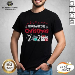 Nice Quarantine Christmas Shark Mask Toilet Paper 2020 Shirt - Design By Earstees.com