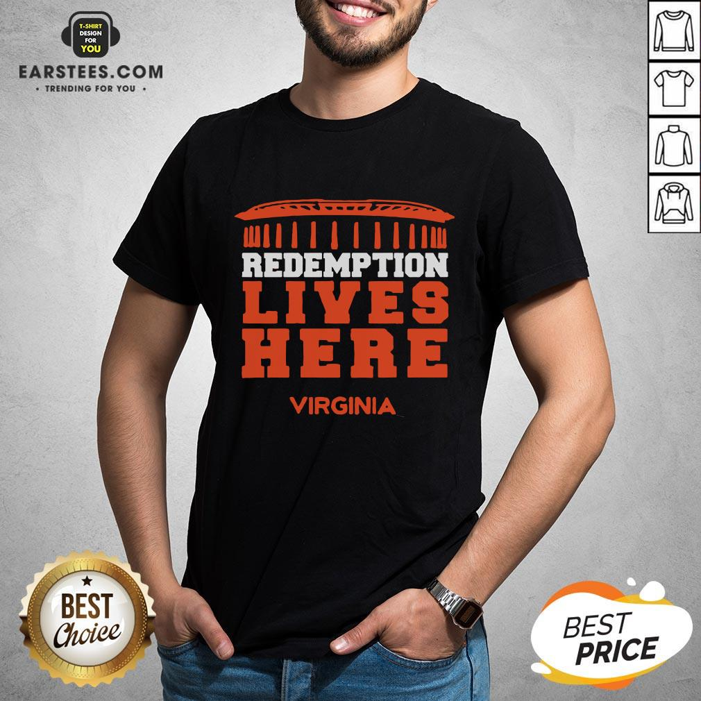 Nice Redemption Lives Here Virginia Shirt - Design By Earstees.com