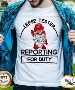 Official Gnome Lefse Tester Reporting For Duty Shirt - Design By Earstees.com