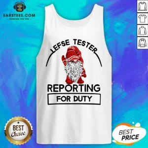 Official Gnome Lefse Tester Reporting For Duty Tank Top - Design By Earstees.com