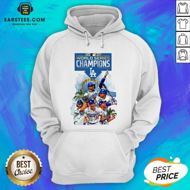 Official LA Dodgers Double Champions 2020 World Series Player Legend Hoodie - Design By Earstees.com