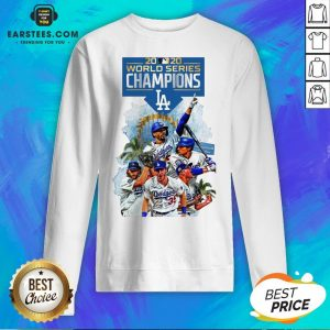 Official LA Dodgers Double Champions 2020 World Series Player Legend Sweatshirt - Design By Earstees.com