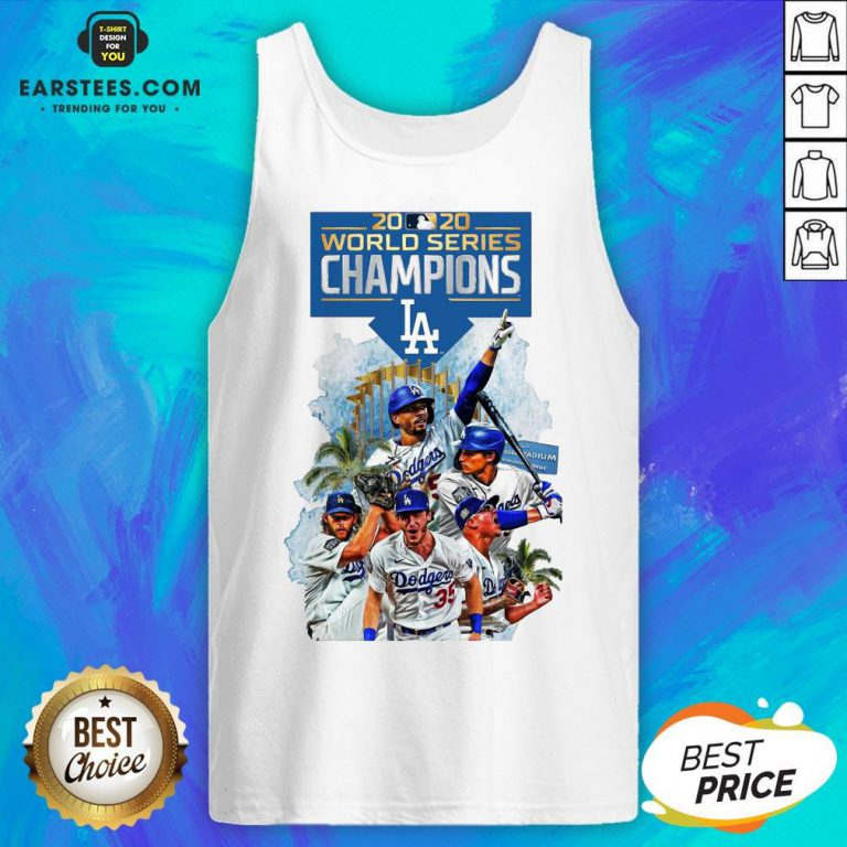 Official LA Dodgers Double Champions 2020 World Series Player Legend Tank Top - Design By Earstees.com