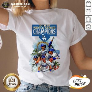 Official LA Dodgers Double Champions 2020 World Series Player Legend V-neck - Design By Earstees.com