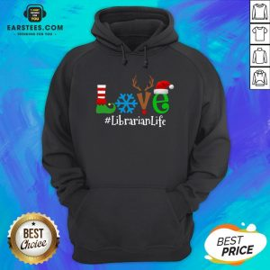 Official Love Snow Elf Reindeer Librarian Life Christmas Hoodie - Design By Earstees.com
