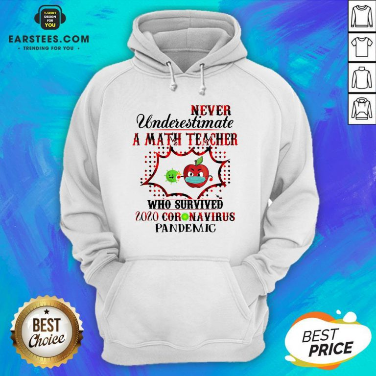 Official Never Underestimate A Math Teacher Who Survived 2020 Coronavirus Pandemic Hoodie - Design By Earstees.com