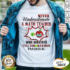 Official Never Underestimate A Math Teacher Who Survived 2020 Coronavirus Pandemic Shirt - Design By Earstees.com