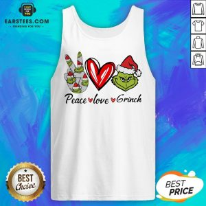Official Peace Love Grinch Santa Christmas Tank Top - Design By Earstees.com