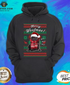Official Pug Santa Merry Woofmas Ugly Christmas Hoodie - Design By Earstees.com