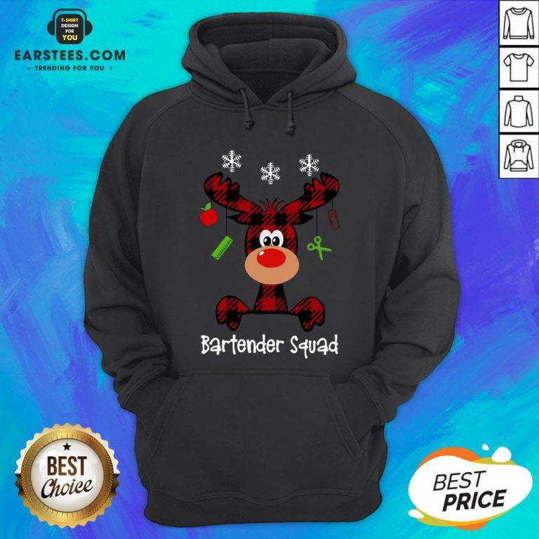 Official Reindeer Dispatcher Bartender Squad Christmas Hoodie - Design By Earstees.com