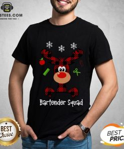 Official Reindeer Dispatcher Bartender Squad Christmas Shirt - Design By Earstees.com