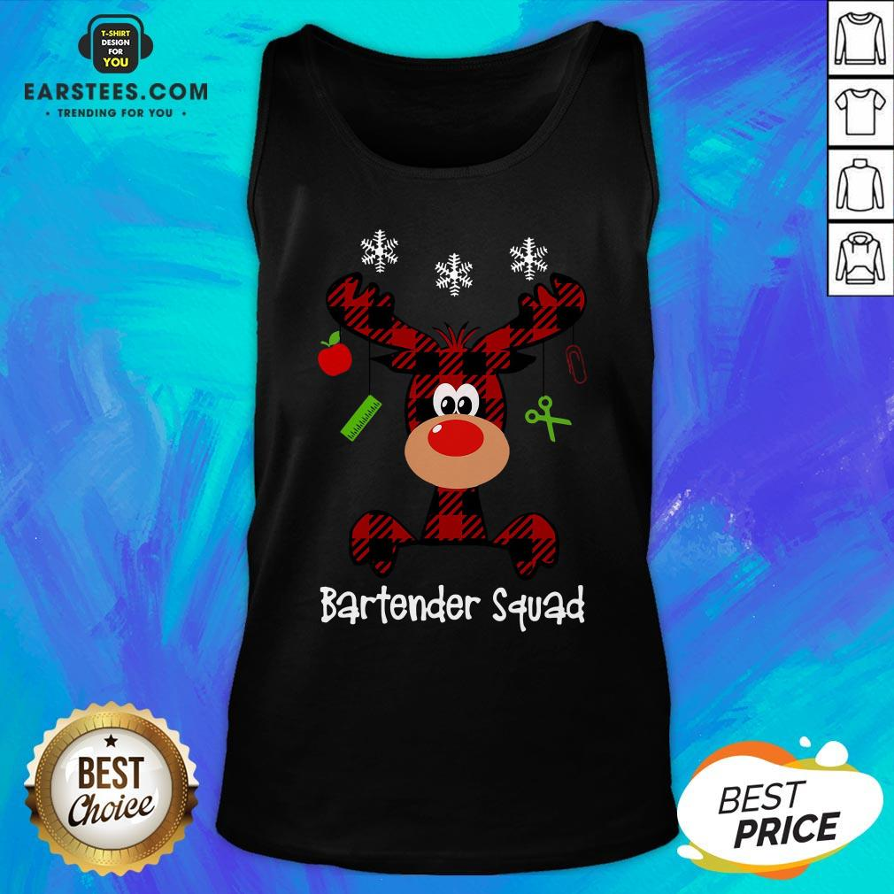 Official Reindeer Dispatcher Bartender Squad Christmas Tank Top - Design By Earstees.com