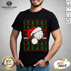 Official Santa Claus Hat Volleyball Christmas Tee Gift Shirt - Design By Earstees.com