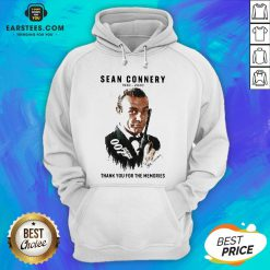 Official Sean Connery 1930 2020 Thank You For The Memories Signature Hoodie - Design By Earstees.com