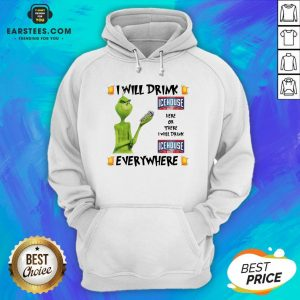 Official The Grinch I Will Drink Icehouse Here And There Everywhere Christmas Sweat Hoodie - Design By Earstees.com