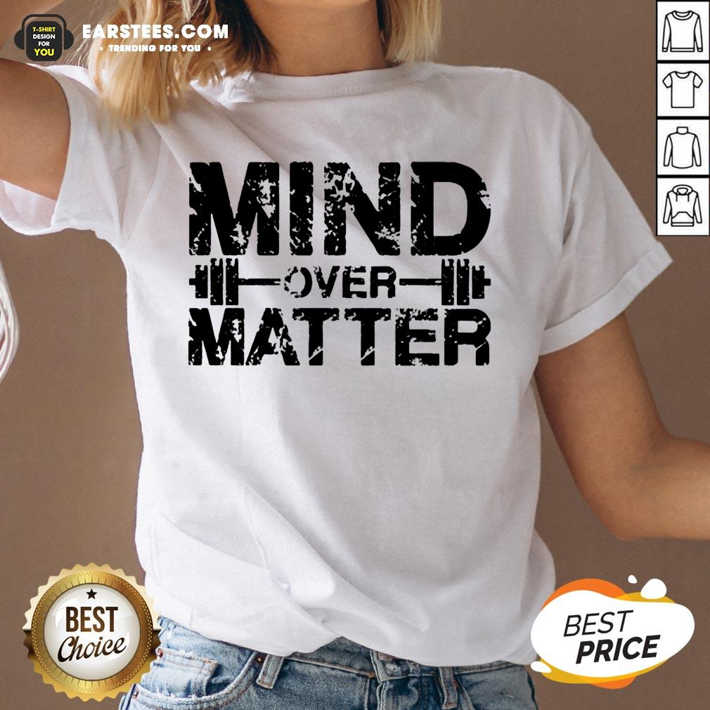 Original Fitness Mind Over Matter V-neck - Design By Earstees.com