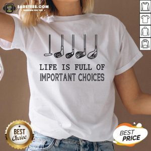 Original Life Is Full Of Important Choices V-neck - Design By Earstees.com