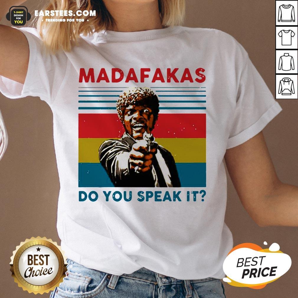 Original Madafakas Do You Speak It Vintage Retro V-neck - Design By Earstees.com