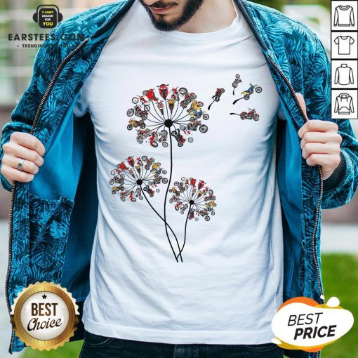 Original Motorcycle Lover Dandelion Shirt - Design By Earstees.com