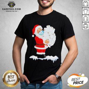 Original Santa Claus Christmas Toilet Paper Gift Quarantine Xmas 2020 Shirt - Design By Earstees.com