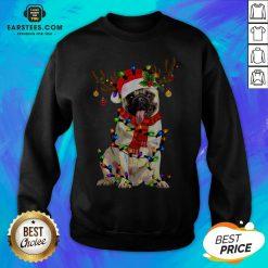 Original Santa Pug Reindeer Merry Christmas Sweatshirt - Design By Earstees.com