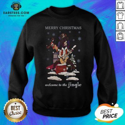 Original Slash Welcome To The Jingle Christmas Jumper Sweatshirt - Design By Earstees.com