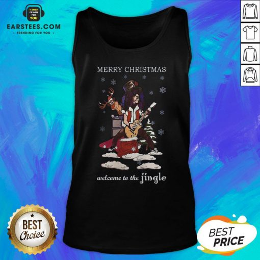 Original Slash Welcome To The Jingle Christmas Jumper Tank Top - Design By Earstees.com
