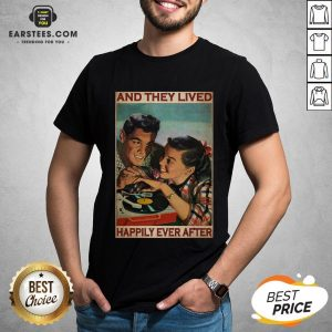 Perfect Couple Record Player And They Lived Happily Ever After Music Shirt - Design By Earstees.com