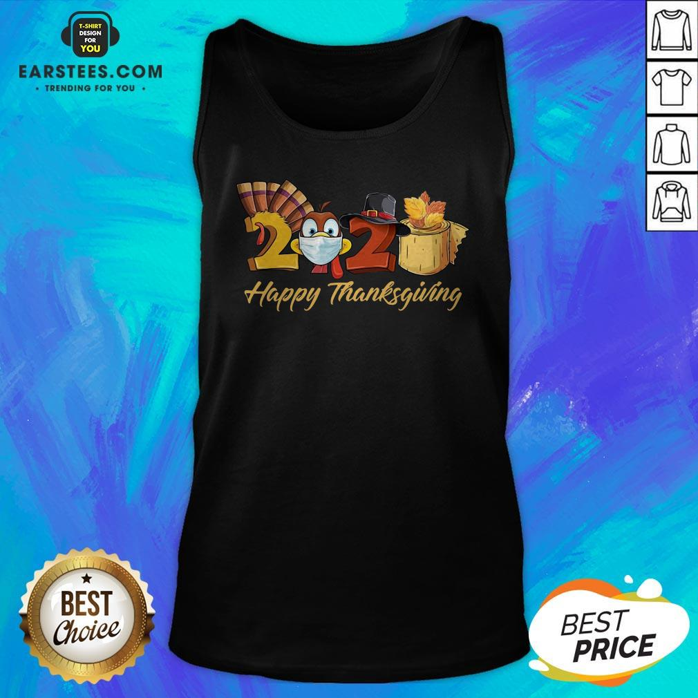 Perfect Turkey Face Mask 2020 Happy Thanksgiving Tank Top - Design By Earstees.com