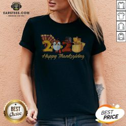 Perfect Turkey Face Mask 2020 Happy Thanksgiving V-neck - Design By Earstees.com