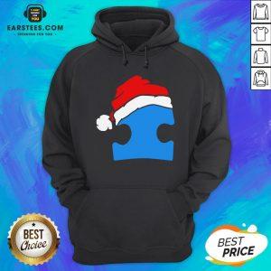 Premium Santa Autism Christmas Hoodie - Design By Earstees.com