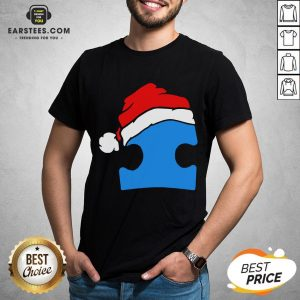 Premium Santa Autism Christmas Shirt - Design By Earstees.com