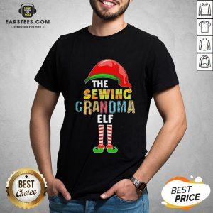 Premium The Sewing Grandma Elf Christmas Shirt- Design By Eerstees.com