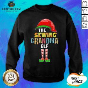 Premium The Sewing Grandma Elf Christmas Sweatshirt- Design By Eerstees.com