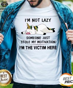 Premium Unicorn Pig I'm Not Lazy Someone Just Stole My Motivation I'm The Victim Here Shirt - Design By Earstees.com