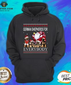 Pretty German Shepherds For Everybody Santa Claus Ugly Christmas Hoodie - Design By Earstees.com