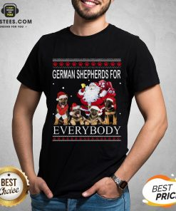 Pretty German Shepherds For Everybody Santa Claus Ugly Christmas Shirt - Design By Earstees.com