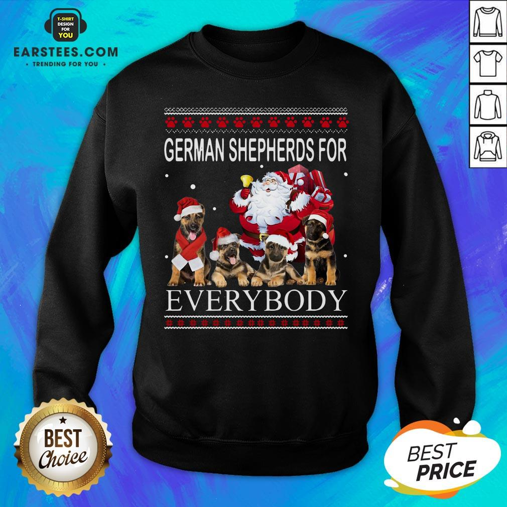 Pretty German Shepherds For Everybody Santa Claus Ugly Christmas  Sweatshirt- Design By Earstees.com