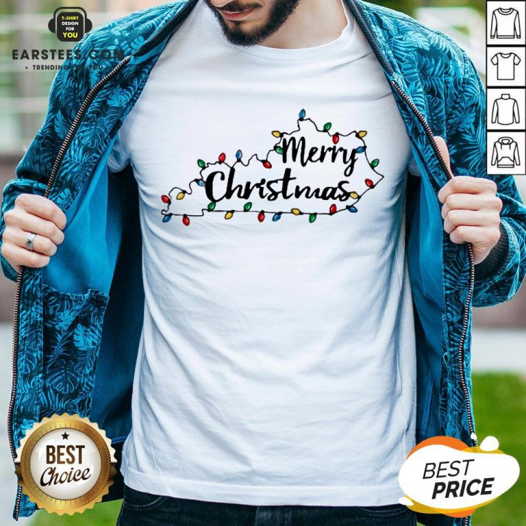 Pretty Kentucky Merry Christmas Light Shirt - Design By Earstees.com