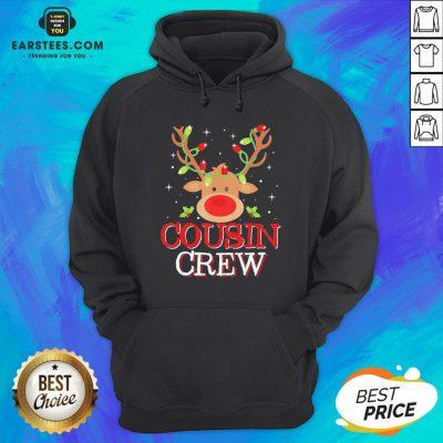 Pretty Reindeer Light Cousin Crew Christmas Hoodie - Design By Earstees.com