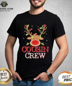 Pretty Reindeer Light Cousin Crew Christmas Shirt - Design By Earstees.com