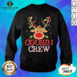 Pretty Reindeer Light Cousin Crew Christmas Sweatshirt - Design By Earstees.com