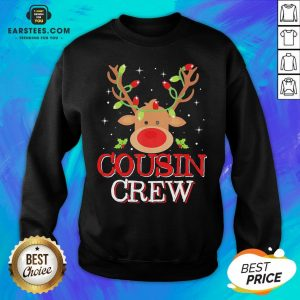 Pretty Reindeer Light Cousin Crew Christmas Sweatshirt - Design By Earstees.com