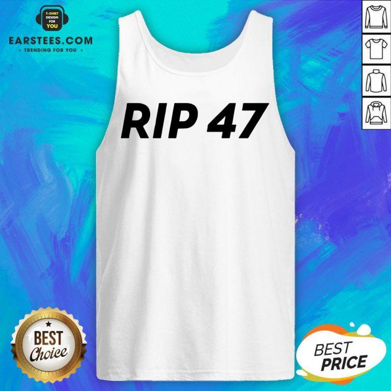 Pretty RIP 47 Sleeveless Tank Top - Design By Earstees.com