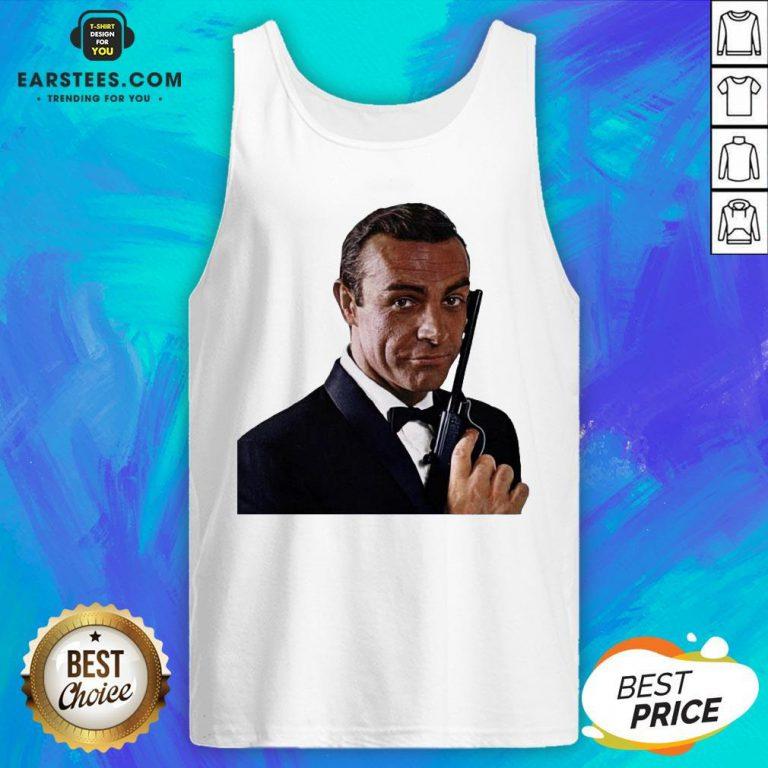 Pretty RIP Sean Connery 1930 2020 James Bond Tank Top- Design By Earstees.com