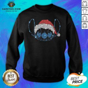 Pretty Stitch Santa Happy Christmas Sweatshirt- Design By Eerstees.com
