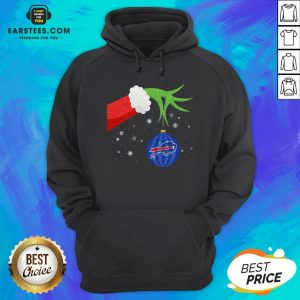 Top Hand The Grinch Holding Christmas 2020 Ornament Buffalo Bills Hoodie - Design By Earstees.com